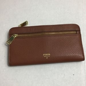 Fossil chestnut 2 compartment wallet